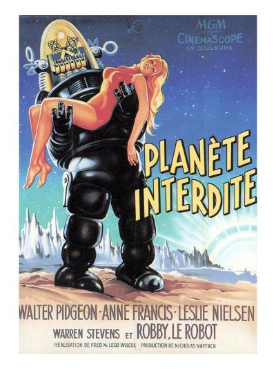 Forbidden Planet, Robby the Robot Holding Anne Francis, 1956--Photo