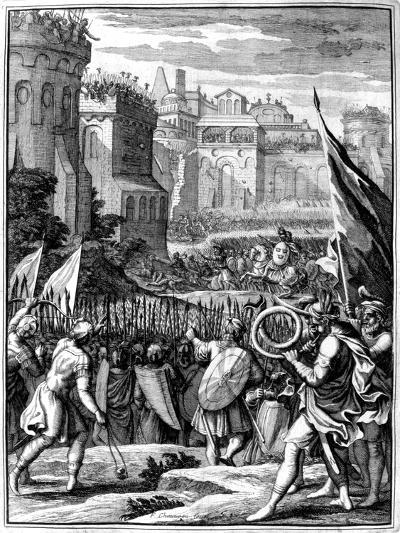 Forces under Alaric I, King of the Visigoths from 395, Sacking Rome, 410 (165)-Francois Chauveau-Giclee Print
