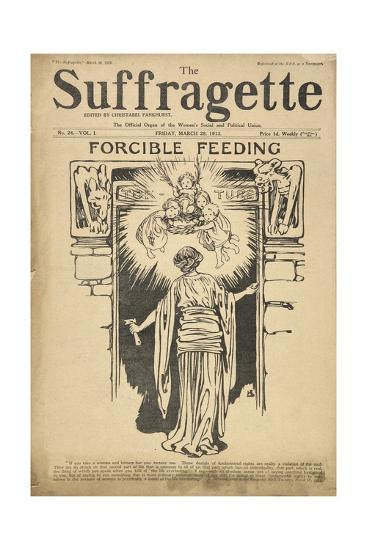 Forcible Feeding Cover of the Suffragette--Giclee Print