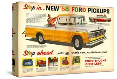 Ford 1958 New `58 Pickups