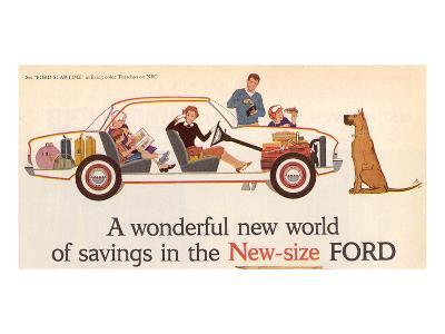 Ford 1960 New World of Savings--Art Print