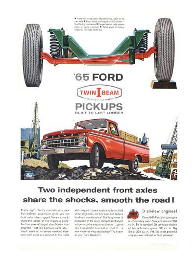 Ford 1965 Twin-I-Beam Pickups--Art Print