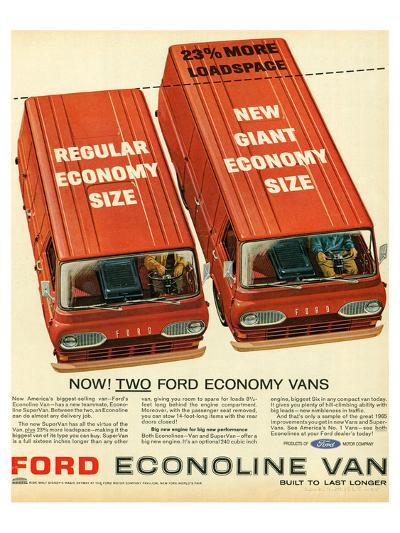 Ford 1965 Two Economy Vans--Art Print