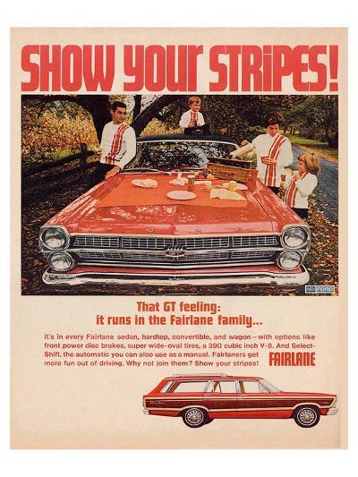Ford 1967 Fairlane GT -Stripes--Art Print