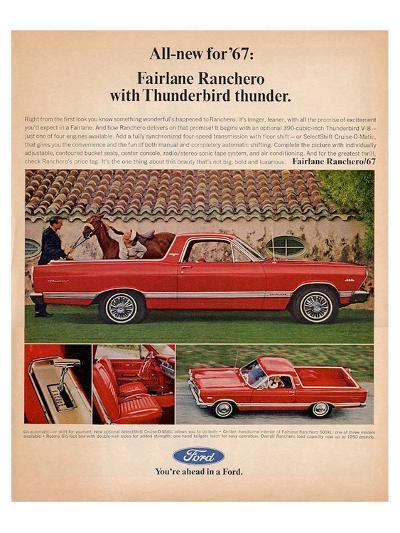 Ford 1967 Fairlane Ranchero--Art Print