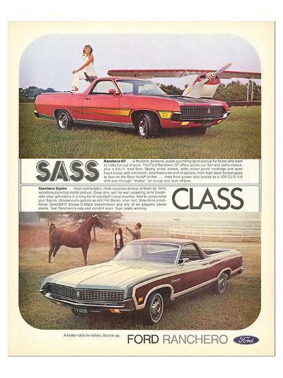 Ford 1971 Ranchero GT - Class--Art Print