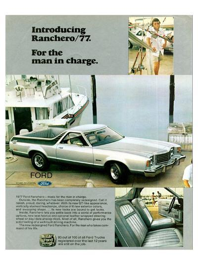 Ford 1977 Ranchero - in Charge--Art Print