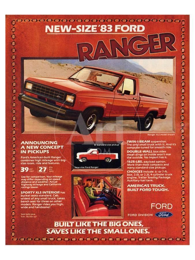 Ford 1983 New-Size Ranger Art Print by | Art com