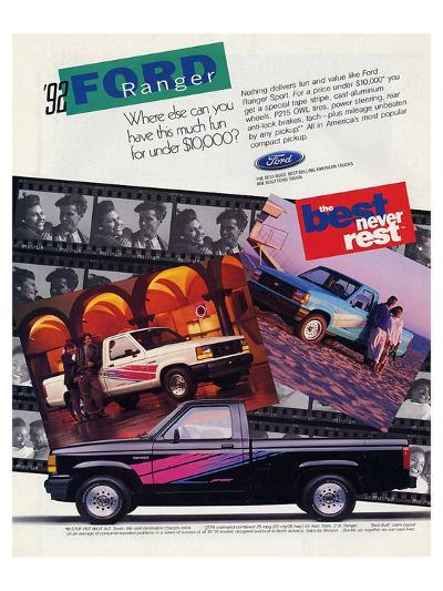 Ford 1992 Ranger - Never Rest--Art Print