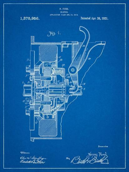 Ford Clutch Patent-Cole Borders-Art Print