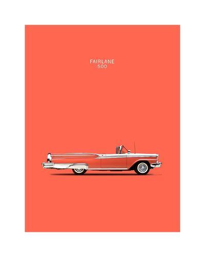 Ford Fairlane 500 1959-Mark Rogan-Giclee Print