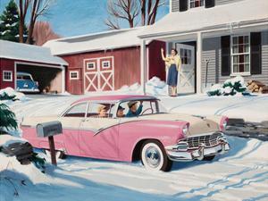 Ford Fairlane Advertisement, 1956