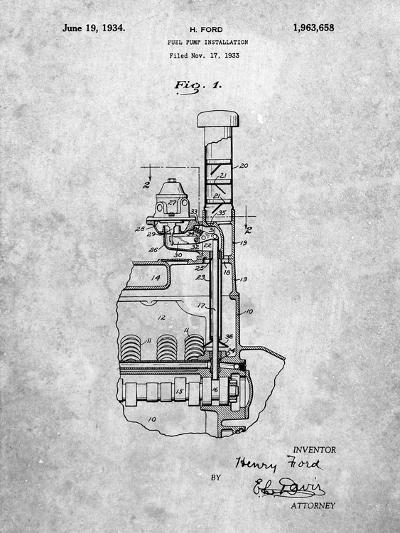 Ford Fuel Pump 1933 Patent-Cole Borders-Art Print