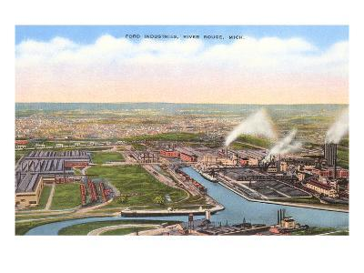 Ford Industries, River Rouge, Michigan--Art Print