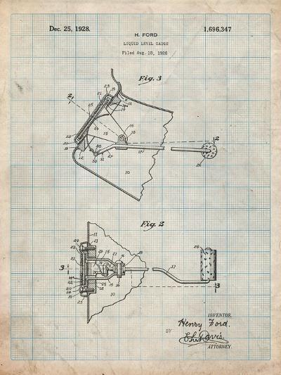 Ford Liquid Gauge Patent-Cole Borders-Art Print
