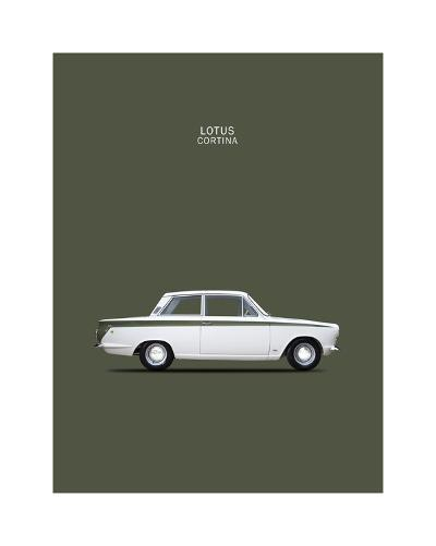 Ford Lotus Cortina Mk1 1966-Mark Rogan-Giclee Print