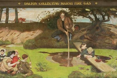 Dalton Collecting Marsh Fire Gas, 1879-93
