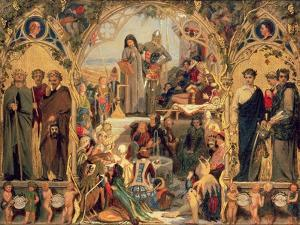 The Seeds and Fruit of English Poetry, 1845 by Ford Madox Brown