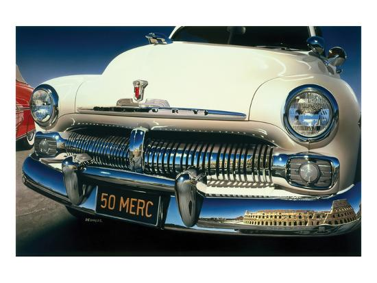 Ford Mercury '50 in Roma-Graham Reynold-Art Print