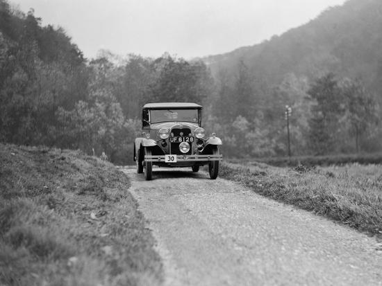 Ford Model A of EAL Midgely competing in the MCC Sporting Trial, 1930-Bill Brunell-Photographic Print