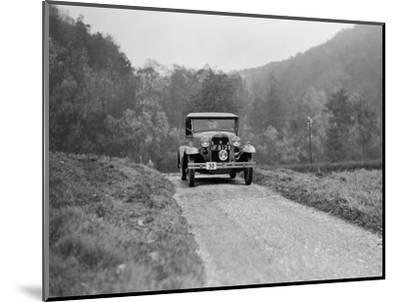 Ford Model A of EAL Midgely competing in the MCC Sporting Trial, 1930-Bill Brunell-Mounted Photographic Print