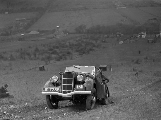 Ford Model C Ten competing in the London Motor Club Coventry Cup Trial, Knatts Hill, Kent, 1938-Bill Brunell-Photographic Print