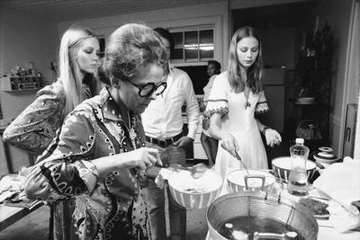 Ford Modeling Agency Owner, Eileen Ford Cooks With Models In Her Mansion,  New York