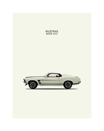 Ford Mustang Boss302 1969-Mark Rogan-Giclee Print