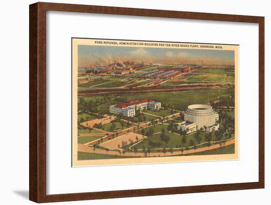 Ford Rotunda, Dearborn, Michigan--Framed Art Print