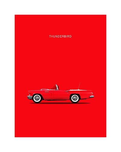 Ford Thunderbird 1957-Mark Rogan-Giclee Print