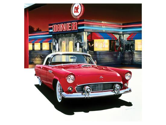 Ford Thunderbird '55-Graham Reynolds-Art Print