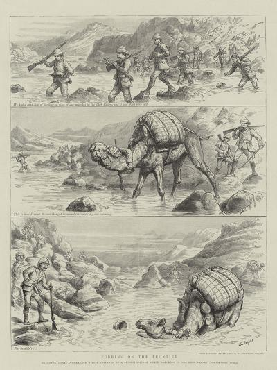 Fording on the Frontier-Godefroy Durand-Giclee Print