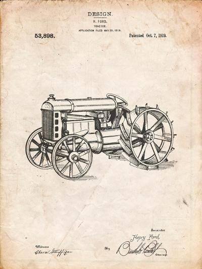 Fordson Tractor Patent-Cole Borders-Art Print