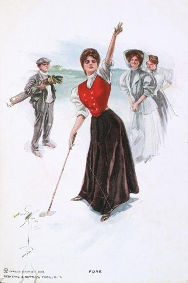 Fore !, illustration, c1900-Unknown-Giclee Print