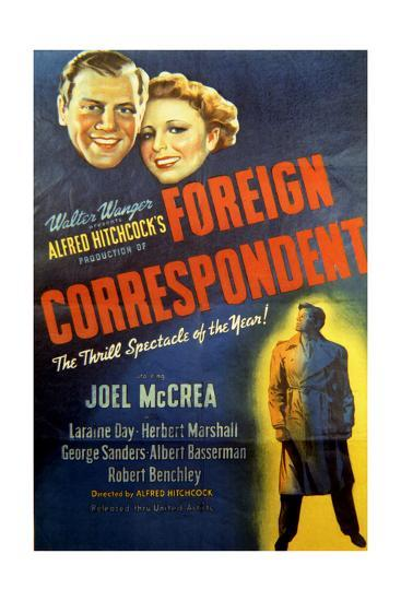 Foreign Correspondent - Movie Poster Reproduction--Art Print