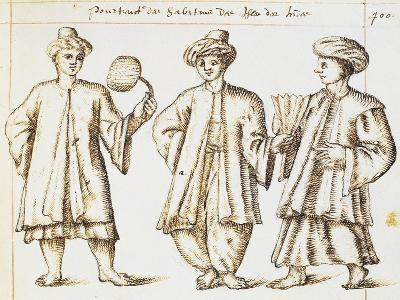 Foreign Merchants Resident in Bantang on Island of Java from Geography of World by Artus Fonnault--Giclee Print