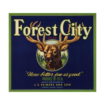 Forest City Brand - Lemon Cove, California - Citrus Crate Label-Lantern Press-Art Print