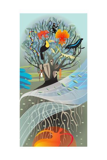 Forest Earth-Sergio Baradat-Giclee Print