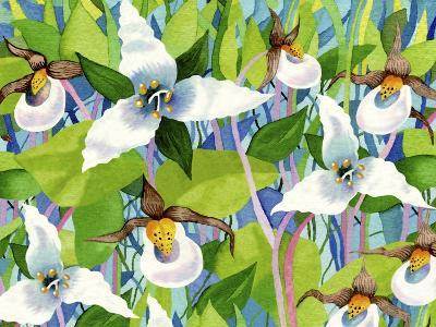 Forest Flowers-Linda Braucht-Giclee Print