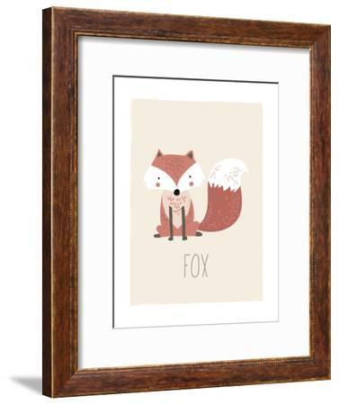 Forest Friends Fox-Kindred Sol Collective-Framed Art Print