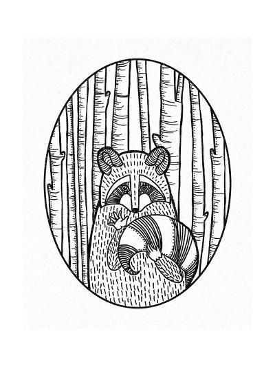 Forest Friends II Black and White-Elyse DeNeige-Art Print