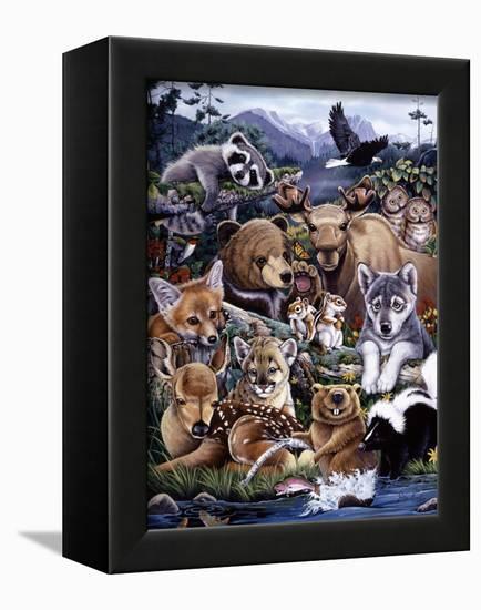 Forest Friends-Jenny Newland-Framed Premier Image Canvas