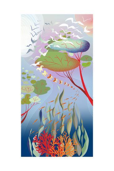 Forest Migration-Sergio Baradat-Giclee Print