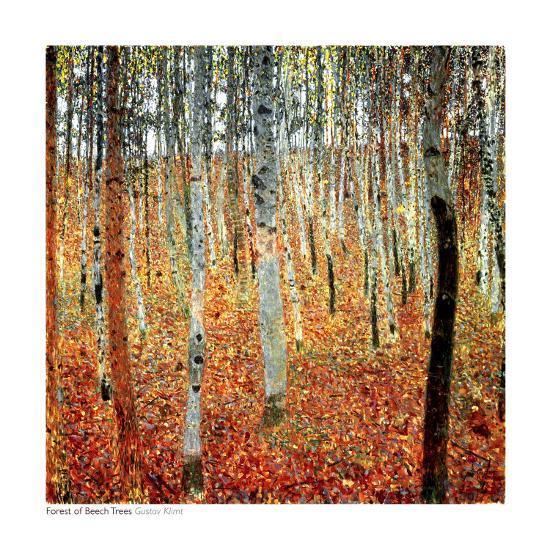Forest of Beech Trees, c.1903-Gustav Klimt-Art Print