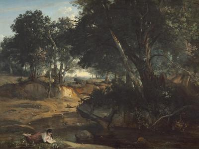 Forest of Fontainebleau, 1834-Jean-Baptiste-Camille Corot-Giclee Print