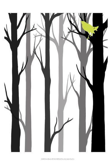 Forest Silhouette II-Erica J^ Vess-Art Print