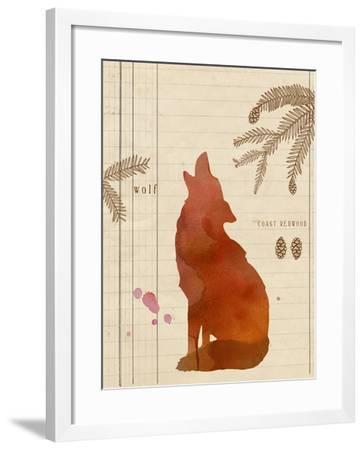 Forest Wolf-Z Studio-Framed Art Print