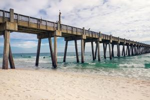 Pensacola Beach Fishing Pier, Florida by forestpath