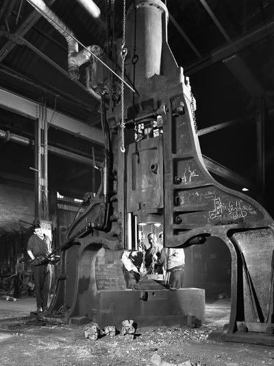Forge in Action at Edgar Allens Steel Foundry, Sheffield, South Yorkshire, 1962-Michael Walters-Photographic Print
