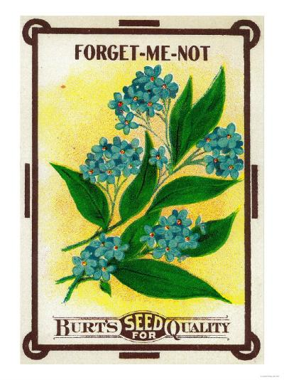 Forget Me Not Seed Packet-Lantern Press-Art Print